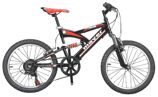 "Велосипед BRABUS 20 MTB20*14""(M)6SP V-BR BLACK/RED"